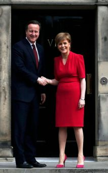 Scotlands-First-Minister-Nicola-Sturgeon-greets-Britains-Prime-Minister-David-Cameron