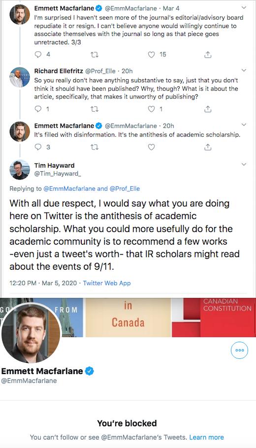 Academic debate with Macfarlane!
